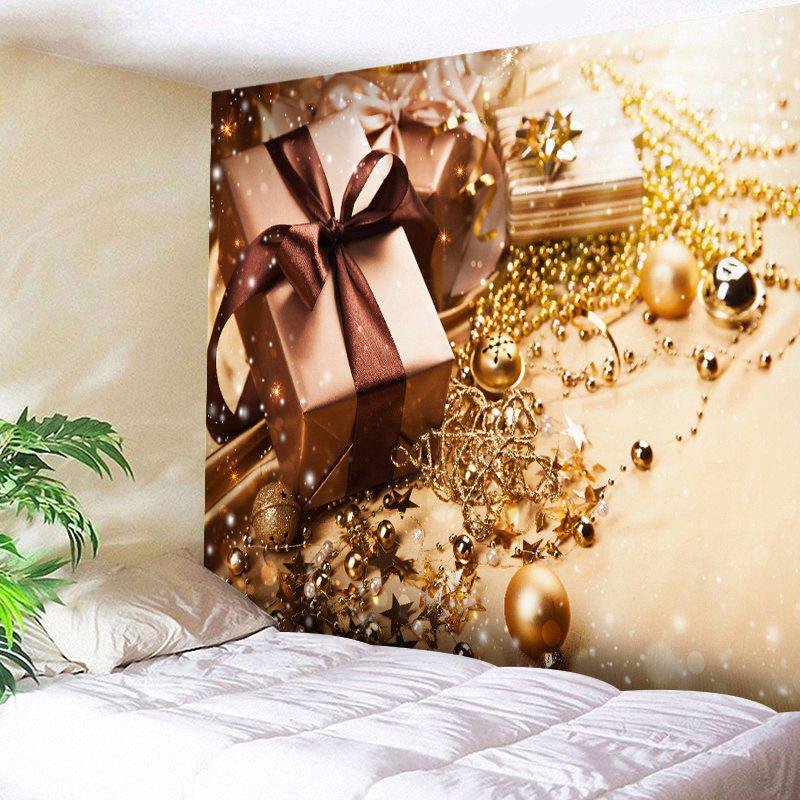 Christmas Gift Star Print Tapestry Wall Hanging Art - GOLDEN W91 INCH * L71 INCH