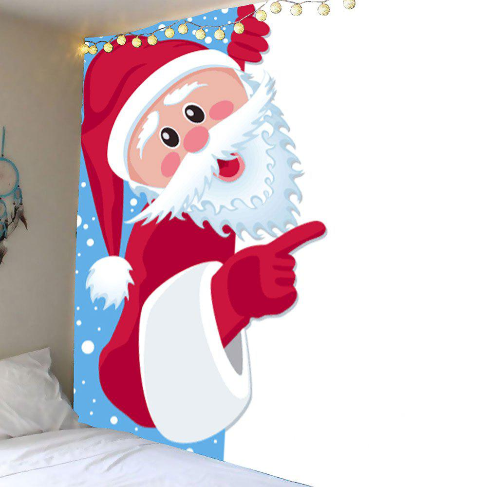 Santa Claus Printed Waterproof Wall Decor Tapestry - COLORFUL W79 INCH * L71 INCH