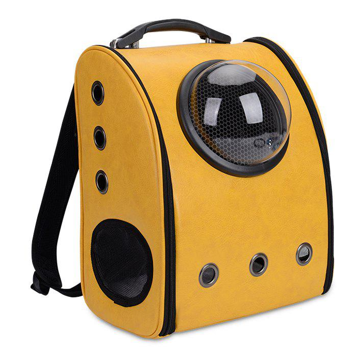 Breathable Space Capsule Grommet Backpack - YELLOW