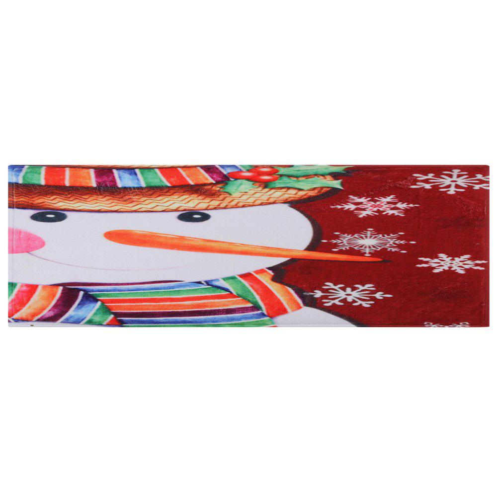 Christmas Snowman Pattern Indoor Outdoor Area Rug - COLORMIX W24 INCH * L71 INCH