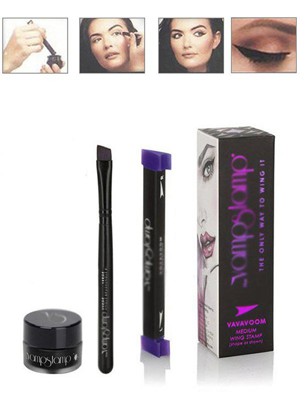 Vamp Eyeliner Stamp Make-up Set - BLACK