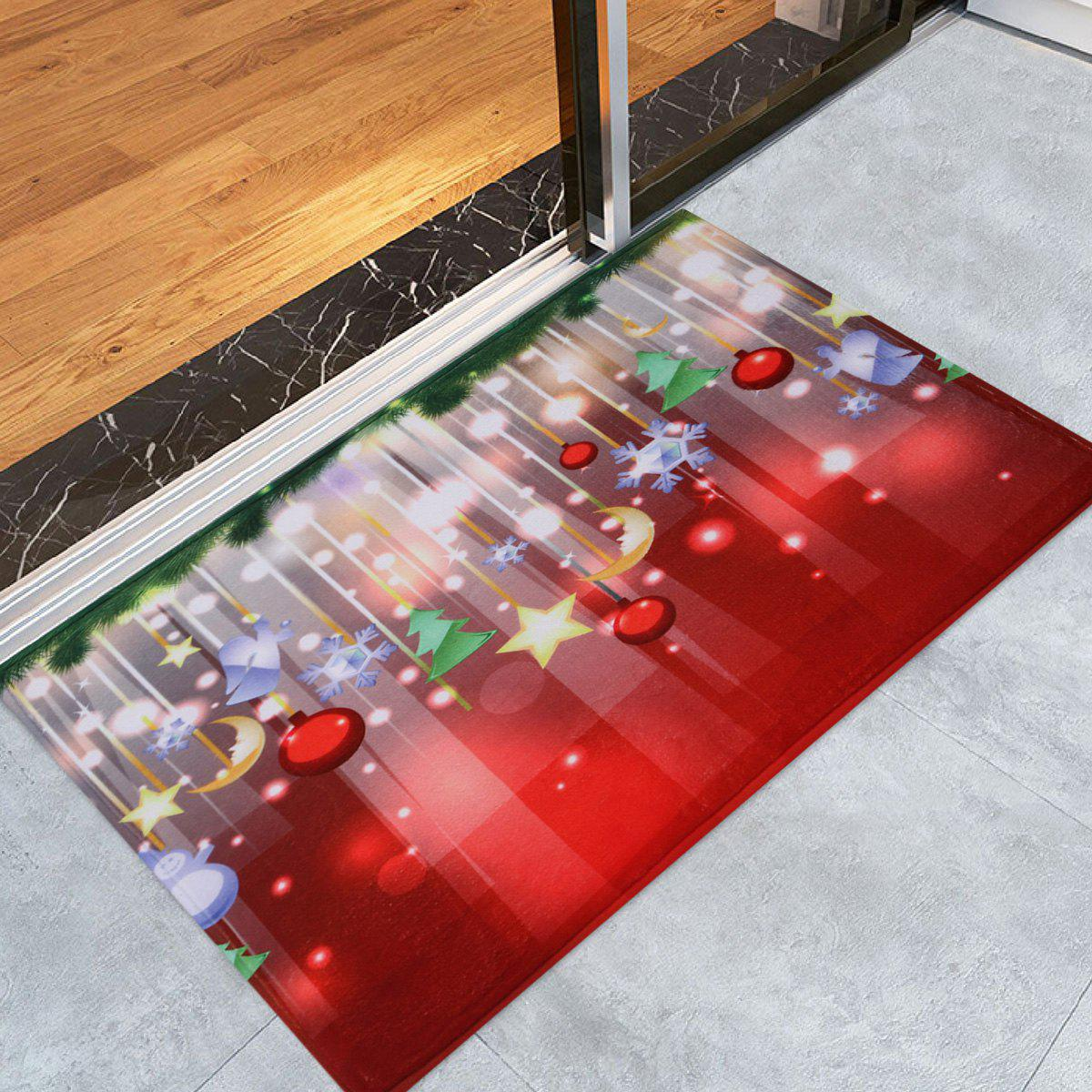 Christmas Baubles Stars Pattern Indoor Outdoor Area Rug, Colormix