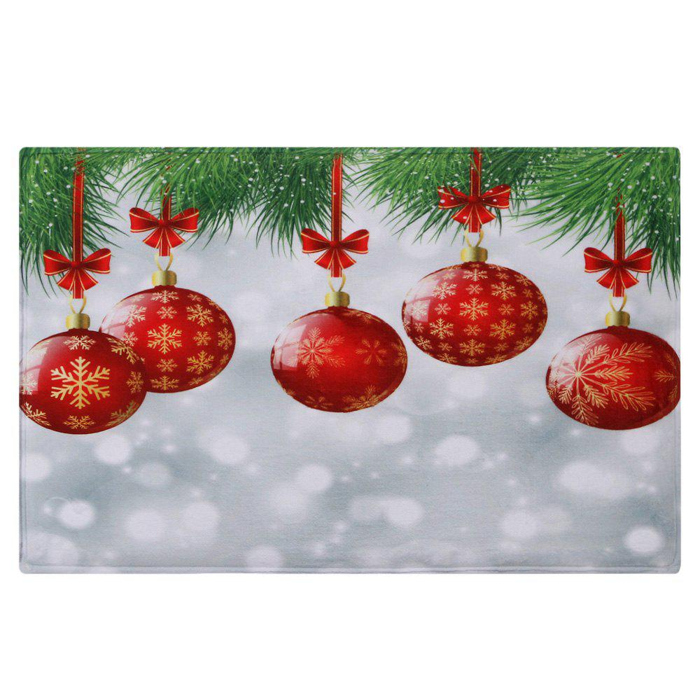 2018 christmas baubles pattern indoor outdoor area rug for Outside christmas baubles