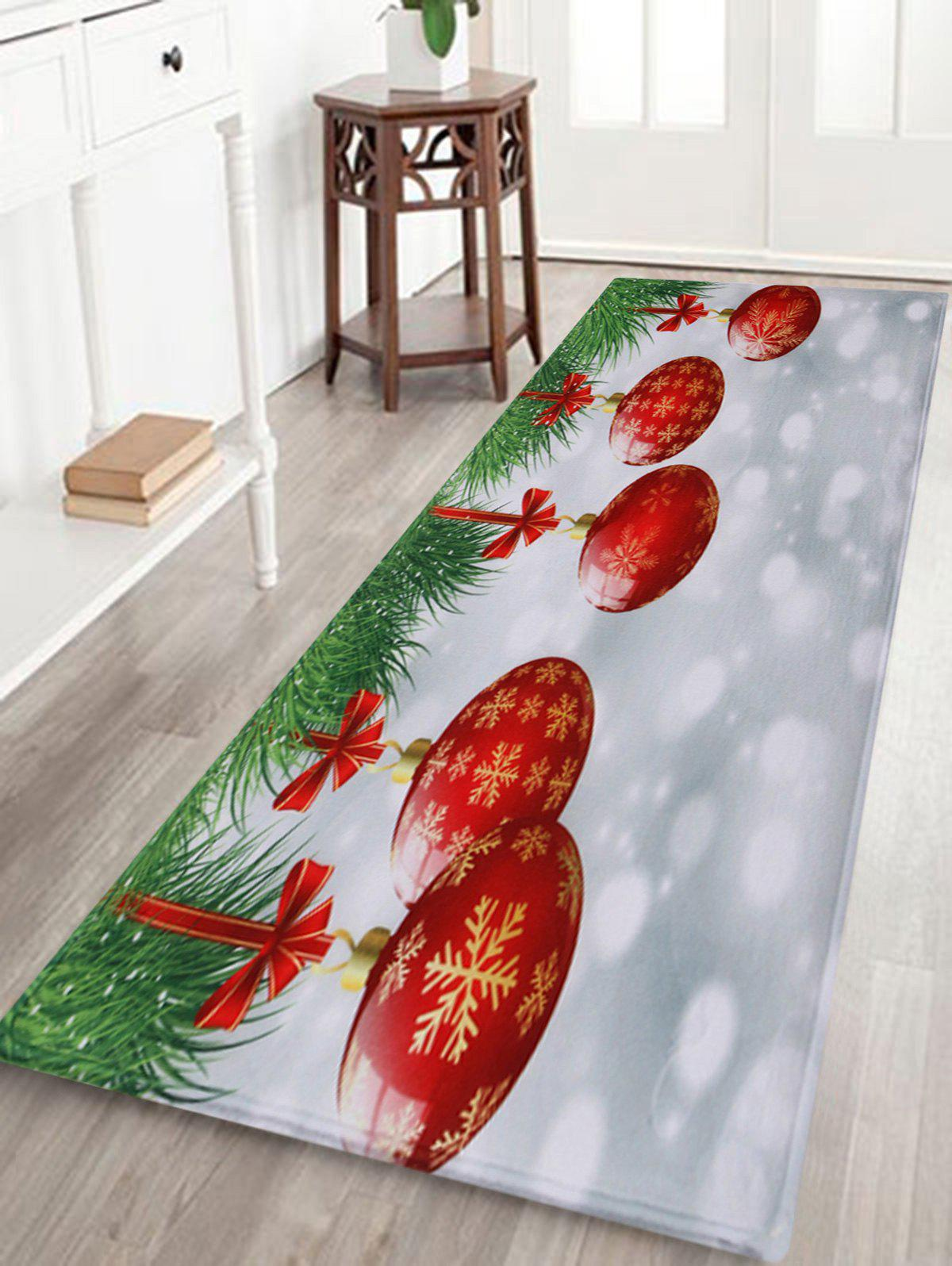 Christmas Baubles Pattern Indoor Outdoor Area Rug - COLORMIX W24 INCH * L71 INCH