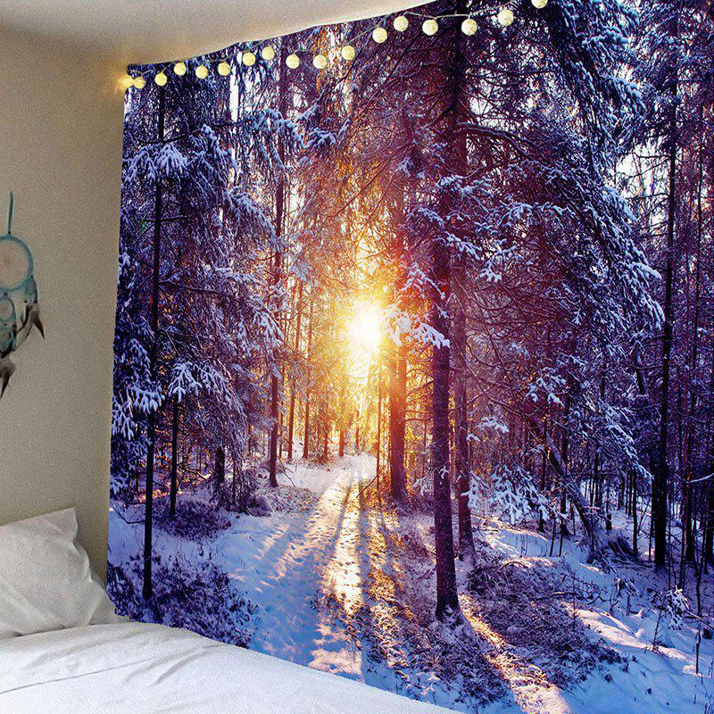 Morning Sunlight Snow Forest Patterned Wall Decor Tapestry колесные диски slik l195 6 5x16 4x98 d58 6 et33 mb