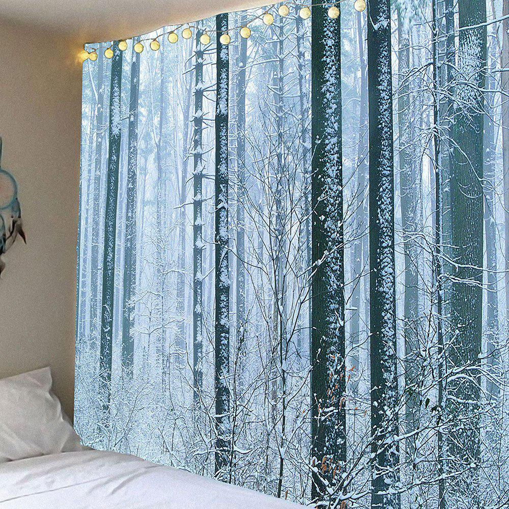 Wall Art Snow Forest Printed Waterproof Hanging Tapestry - WHITE W79 INCH * L71 INCH