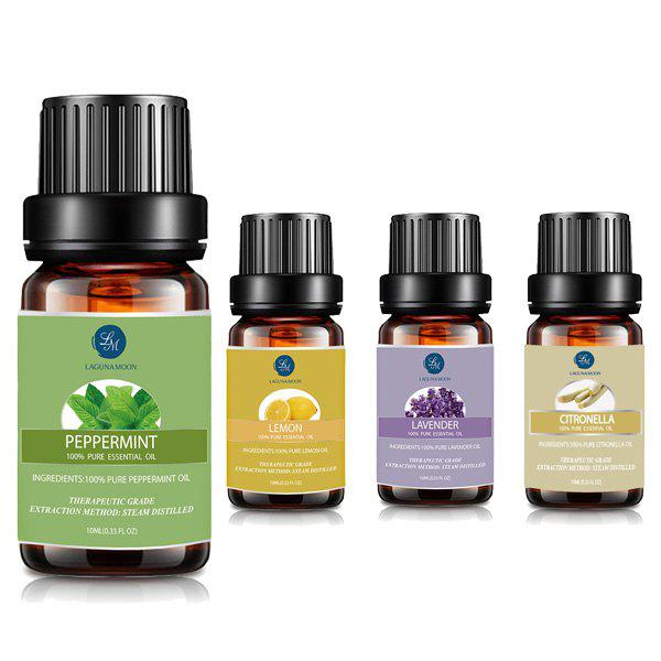 4PCS Citronella Lavender Lemon Peppermint Seasonal Blend Essential Oil - multicolor