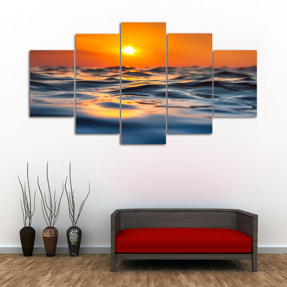 Sunset Ocean Print Unframed Canvas Painting wall art sunset pyramids printed unframed canvas paintings