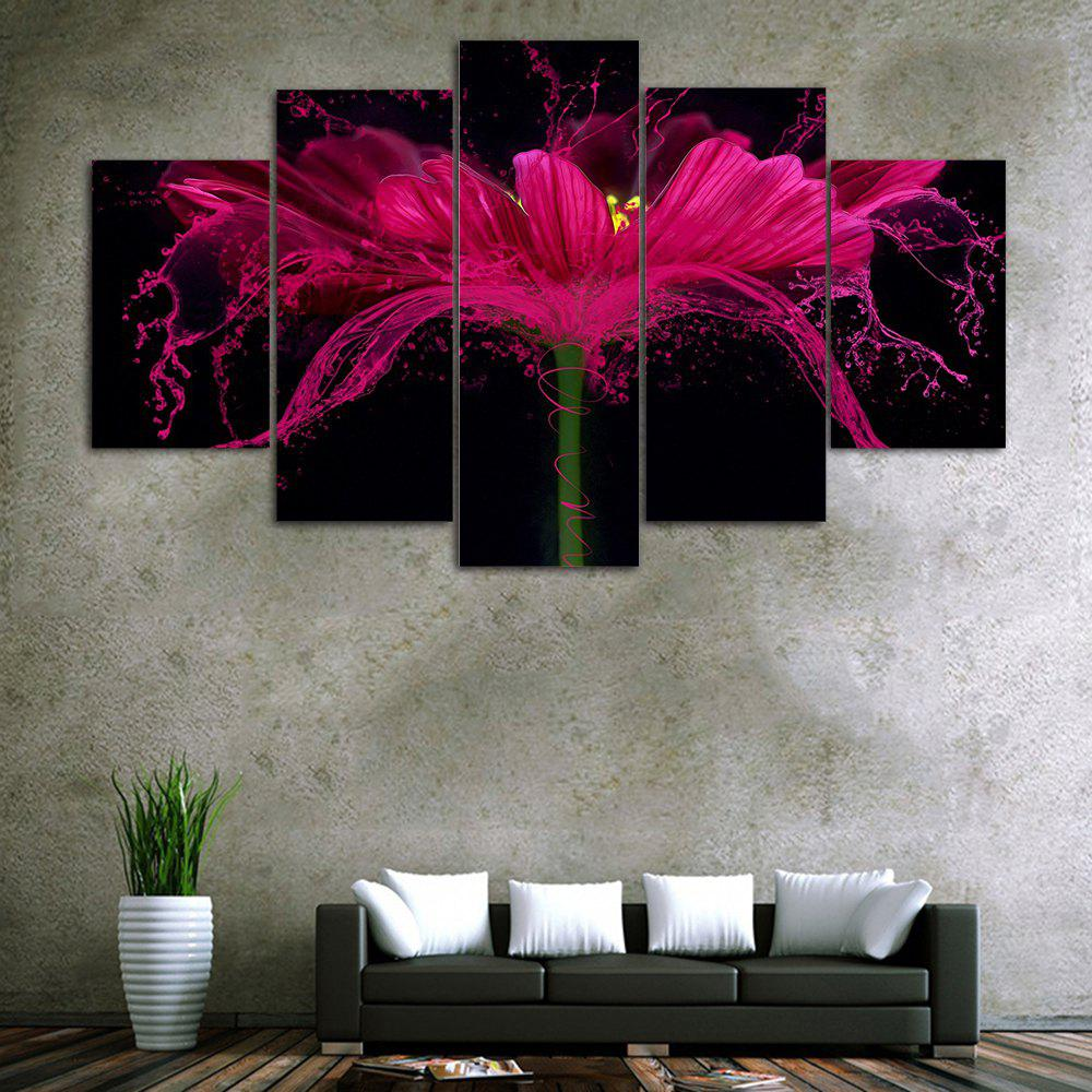 Flower Splash Print Unframed Canvas Paintings exported quality screen printing frame 7 5x10 inch 19x25cm wholesale price door to door
