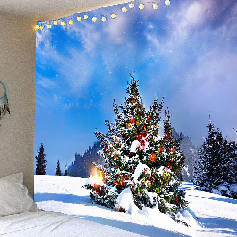 Snowfield Christmas Tree Pattern Waterproof Wall Hanging Tapestry - COLORFUL W79 INCH * L71 INCH