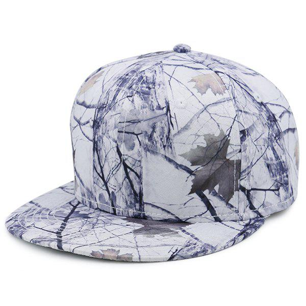Wild Jungle Printed Baseball Cap - WHITE