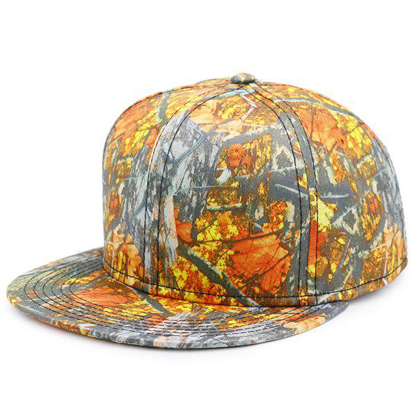 Wild Jungle Printed Baseball Cap - ORANGE