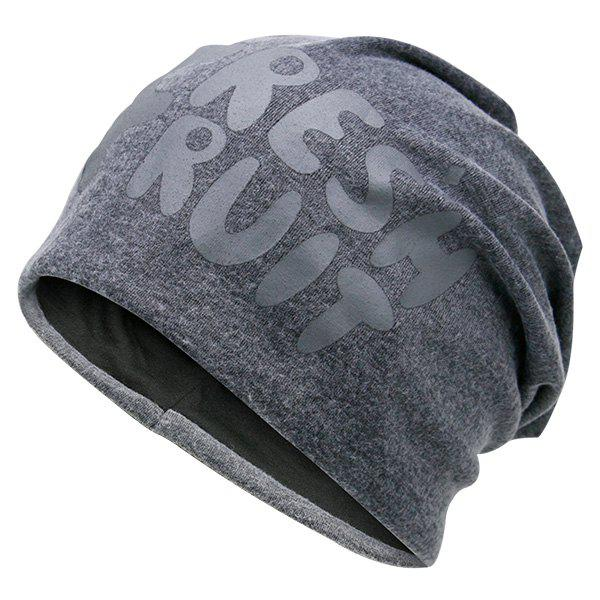 Fresh Fruit Printed Knit Beanie Hat - GRAY