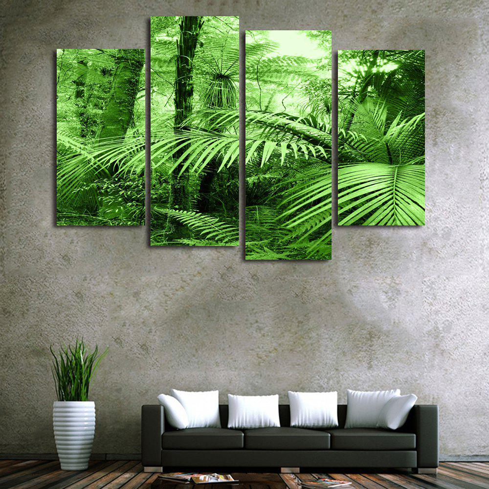 Forest Leaf Print Unframed Canvas Paintings maple forest pattern unframed decorative canvas paintings