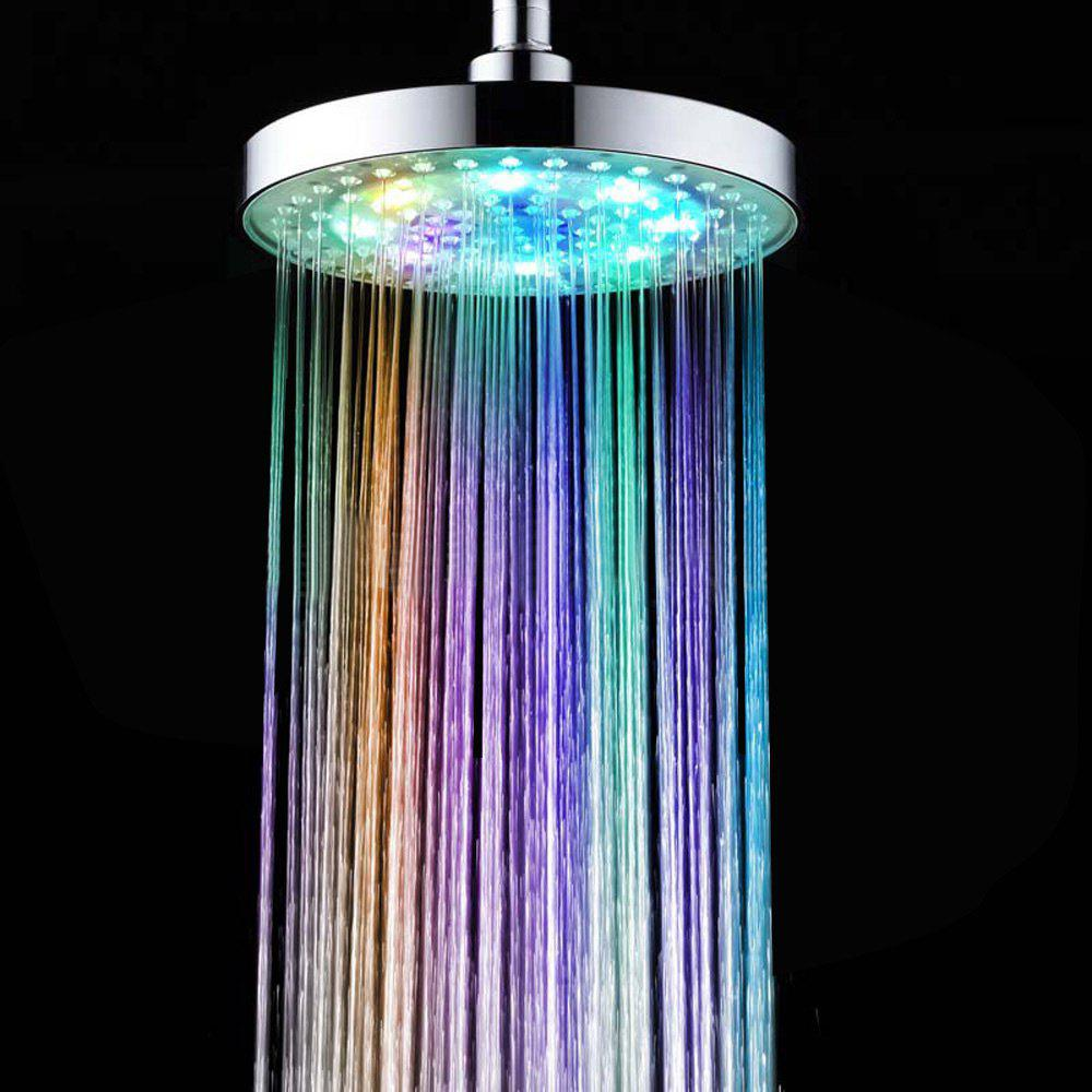 Sprinkler Cleansing Filter Sprayer Colors Changing LED Shower Head - SILVER