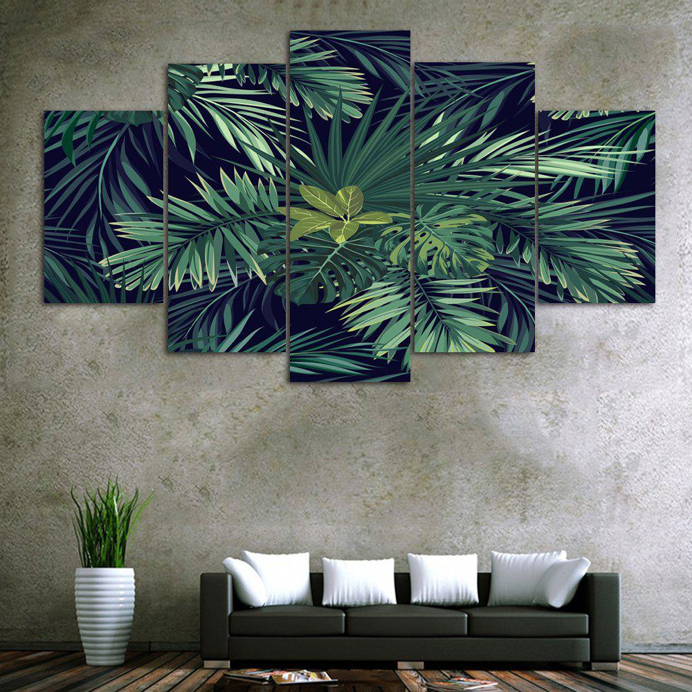Tropical Leaves Print Unframed Canvas Paintings цена 2017