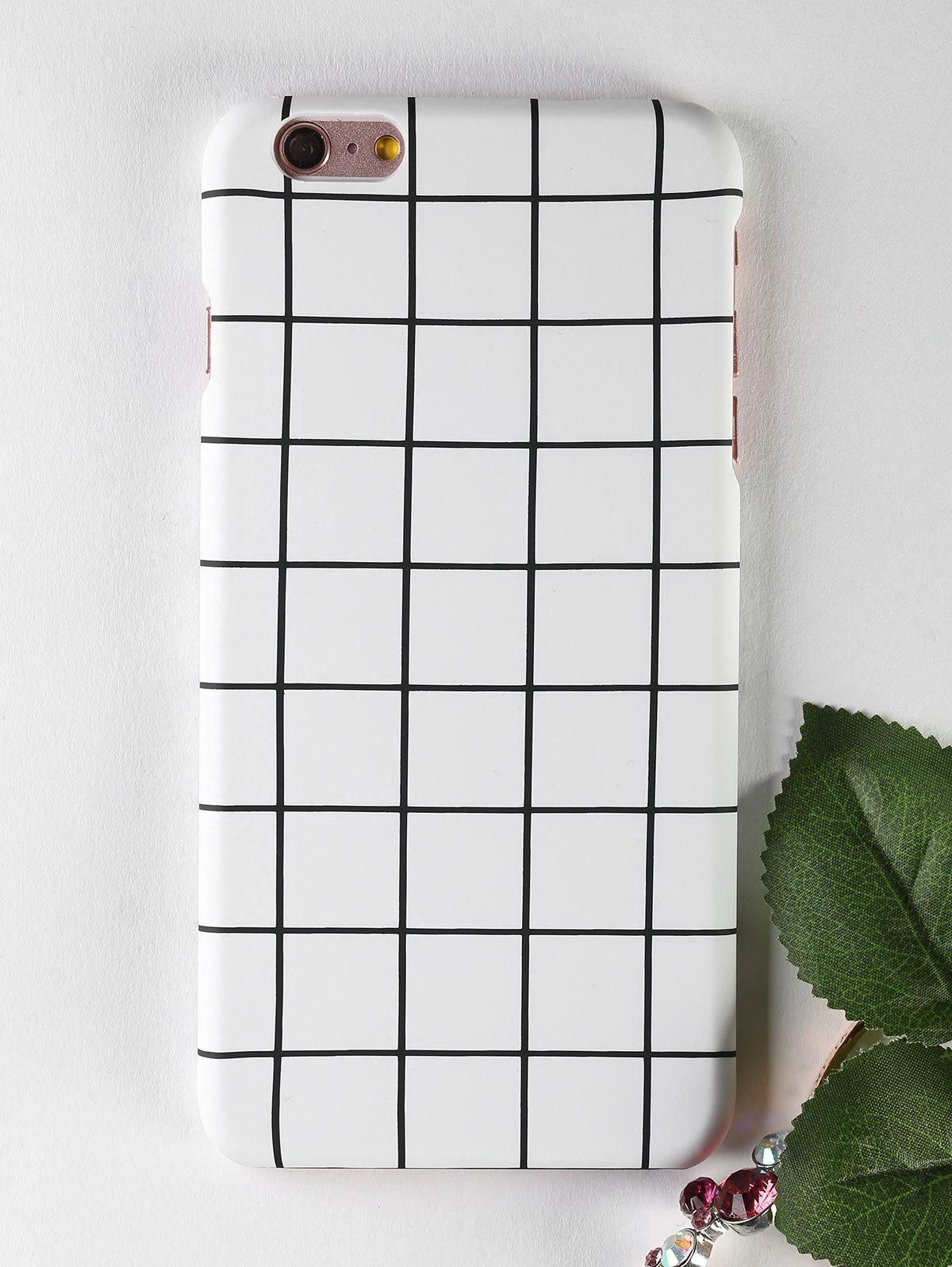 Grid Pattern Soft Cell Phone Case For Iphone - WHITE FOR IPHONE 6 PLUS / 6S PLUS