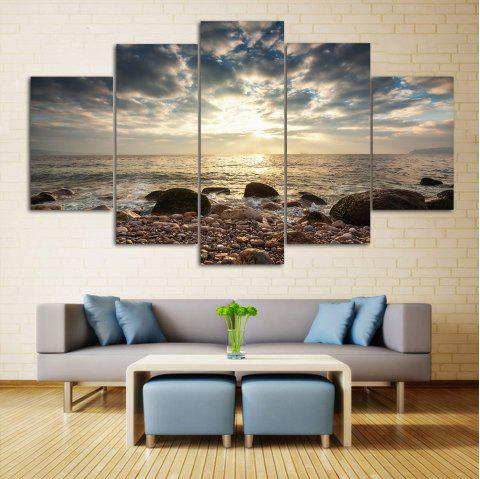 2018 Sea Stone Beach Split Canvas Prints Wall Art Paintings In ...