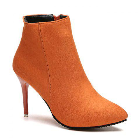Ankle Pointed Toe Stiletto Boots - JACINTH 38