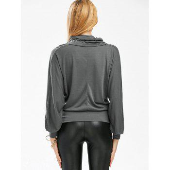 Stylish Cowl Necked Buttocks Tight Long Blouse - ONE SIZE ONE SIZE