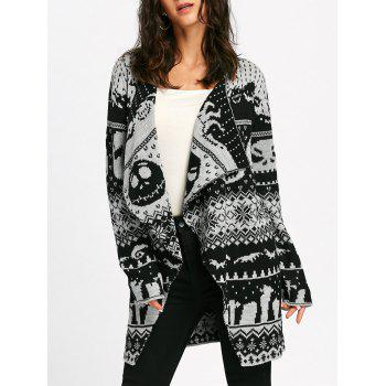 Halloween Skull Knitting Tunic Cardigan