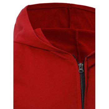 Kangaroo Pocket Zipper Up Hooded Vest - M M