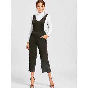 Wide Leg Pinafore Jumpsuit - XL XL