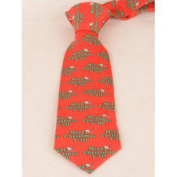 Merry Christmas Y'all Printed Allover Tie -  RED