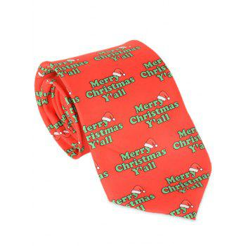 Merry Christmas Y'all Printed Allover Tie - RED RED