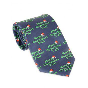 Merry Christmas Y'all Printed Allover Tie - BLUE BLUE