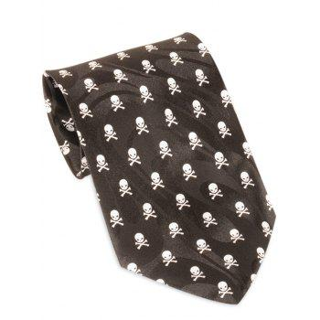 Full Skull Pattern Halloween Themed Necktie