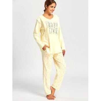 Floral Nursing Cotton Pajamas Set - M M