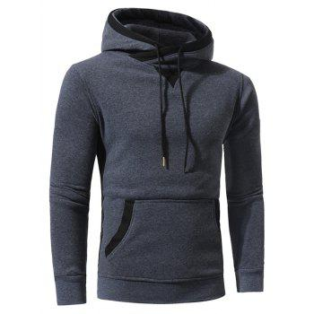 Selvedge Elbow Patch Fleece Pullover Hoodie - 2XL 2XL