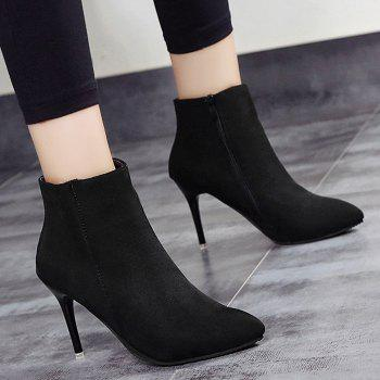 Ankle Pointed Toe Stiletto Boots - 39 39