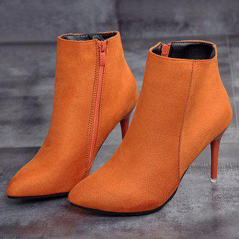 Ankle Pointed Toe Stiletto Boots - JACINTH JACINTH