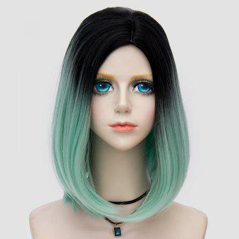 Medium Side Parting Straight Bob Ombre Party Synthetic Wig -  LIGHT GREEN