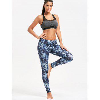 Pocket Insert Tie Dye Sports Leggings - PURPLISH BLUE PURPLISH BLUE