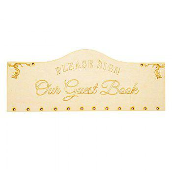 DIY Wooden Guest Book Birthday Calendar Board -  IVORY YELLOW