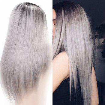 Long Middle Part Straight Ombre Synthetic Wig - COLORMIX COLORMIX