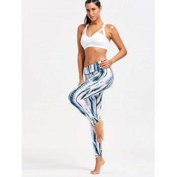 Ombre Printed Tight Leggings - WHITE XL