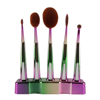 5 Pcs Toothbrush Shape Brushes Set with Holder -  GREEN