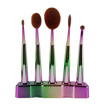 5 Pcs Toothbrush Shape Brushes Set with Holder - GREEN GREEN