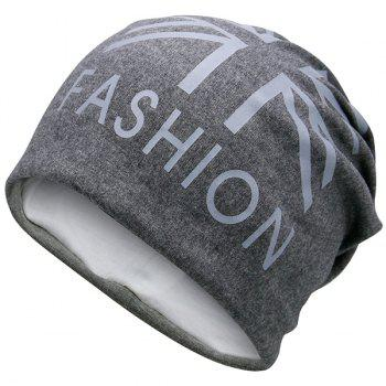 Flag Printed Fal Knitting Beanie Hat - DEEP GRAY DEEP GRAY