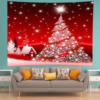 2018 Christmas Tree Star Print Tapestry Wall Hanging Art RED W INCH ...