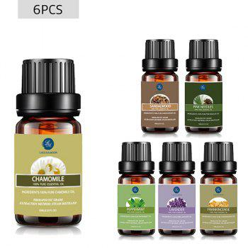 6Pcs Grounding Blend Essential Oil Set - MULTI multicolor