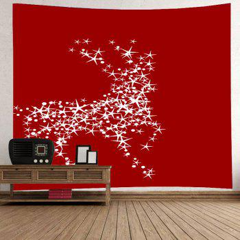 Cerf-volant de Noël Print Tapestry Wall Hanging Art - Rouge W91 INCH * L71 INCH