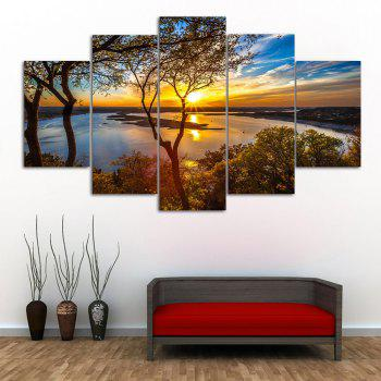Sunrise River Print Unframed Canvas Paintings