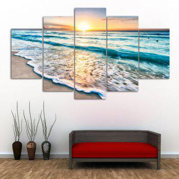 Art de mur Sunset Beach Print Peintures en toile fendue