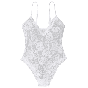 See Through Cami Lace Teddy - M M