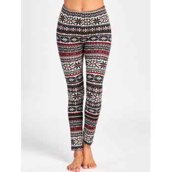 Christmas Graphic Skinny Pants - COLORMIX COLORMIX
